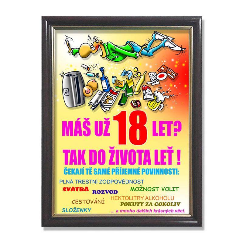 přání k 18 narozeninám texty Rámeček  18 let | Zajímavé dárky skladem. Expedice do 24h. přání k 18 narozeninám texty